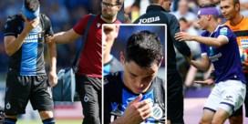 Onverantwoord: zowel bij Club Brugge als bij Anderlecht wordt speler met hoofdblessure pas minuten later gewisseld