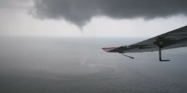 Waterhoos trekt over Belgische Noordzee