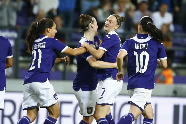Vrouwen van Anderlecht slepen na rode kaart nog gelijkspel uit de brand in knock-outfase Champions League
