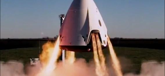 SpaceX test noodprocedure van commerciële ruimtetaxi
