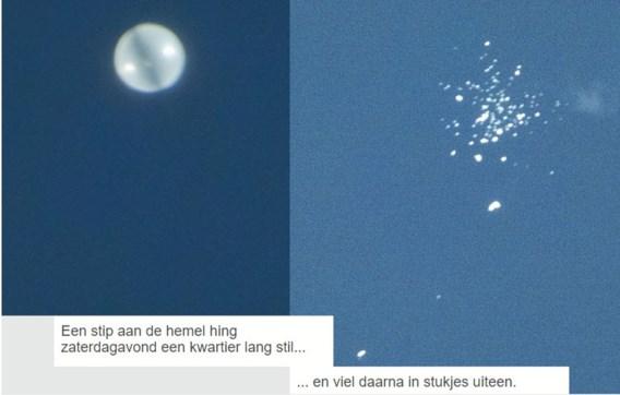 Ufo boven Gent was Ierse onderzoeksballon