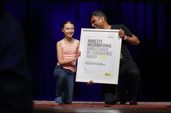 Greta Thunberg ontvangt prestigieuze prijs van Amnesty International