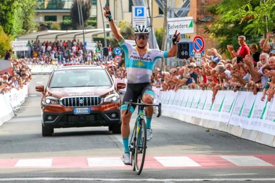 Te duchten outsider op het WK? Lutsenko wint Coppa Sabatini na straffe solo