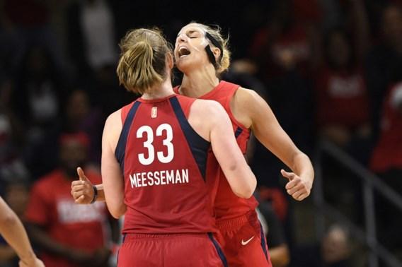 """Emma Meesseman schittert opnieuw in WNBA-playoffs: """"Als het meezit, moet je blijven shooten. Dat heb ik gedaan"""""""