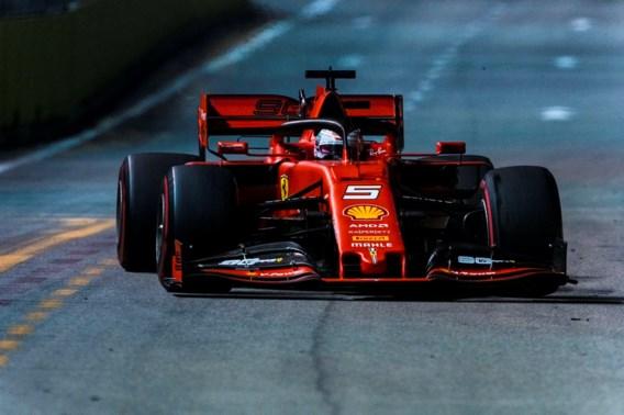 Sebastian Vettel na overwinning dicht bij derde plaats F1-kampioenschap
