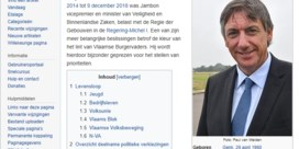 Grapjas past Wikipedia-pagina van Jan Jambon aan