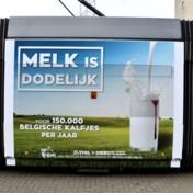 Reclame 'Melk is dodelijk' op trams na één dag stopgezet