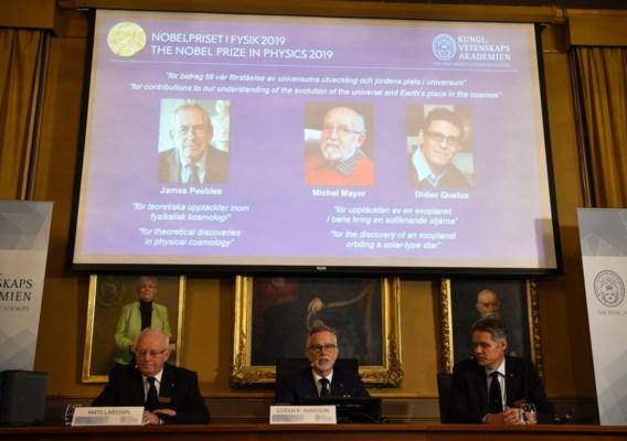 Nobelprijs voor Fysica voor kosmologie en ontdekking exoplaneet
