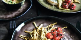 Entrecote met knolselder en tomaten-mosterdsausje