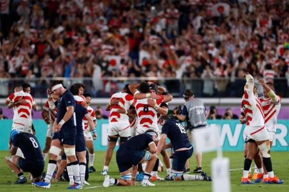 Japan schrijft geschiedenis op WK rugby en dat levert geweldige beelden op