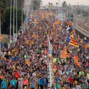 Enorm protest verwacht: honderdduizenden Catalanen op weg naar Barcelona