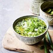 Groene minestrone met feta