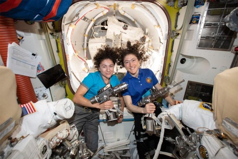 Primeur: eerste volledig vrouwelijke ruimtewandeling