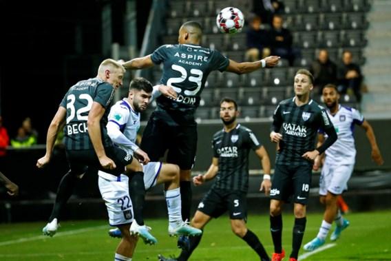 zonder Chadli lukt het niet: Anderlecht geraakt niet voorbij Eupen