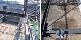 Portugese waaghals pakt uit met straffe stunt op metalen balken