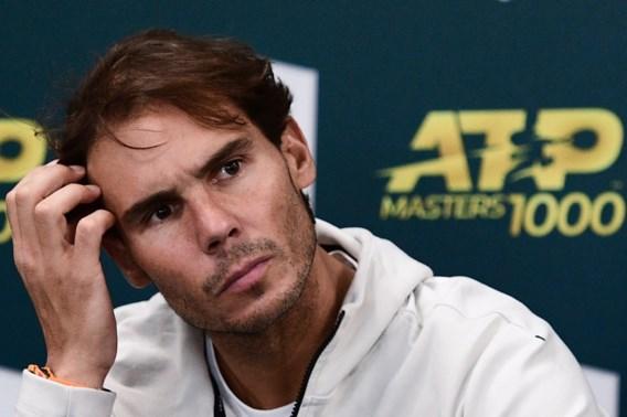 Rafael Nadal geeft forfait voor halve finale Masters Parijs tegen Shapovalov die in finale Novak Djokovic ontmoet