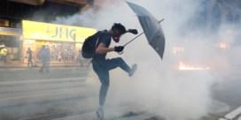 Onrust Hongkong - Politie zet traangas en waterkanon in bij nieuwe manifestatie