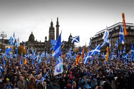 Duizenden Schotten op straat voor onafhankelijkheid: 'Tijd dat Schotland zijn eigen toekomst kiest'
