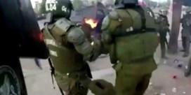 Betogers steken agenten in brand tijdens protest in Chili