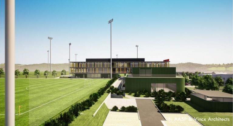 Voetbalbond presenteert nieuw bondsgebouw en nieuw logo Rode Duivels