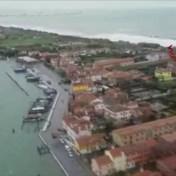 Luchtbeelden tonen overstromingen nabij Venetië