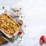Ovenschotel met paprika, feta en ei