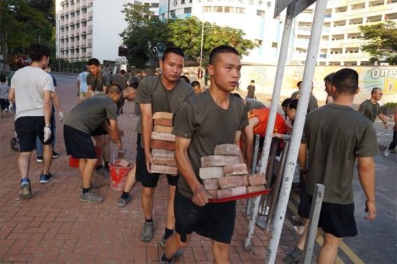 Chinese soldaten voor het eerst de straat op in Hongkong
