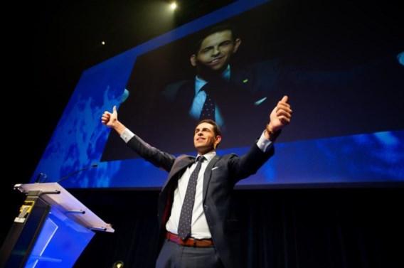 Tom Van Grieken herverkozen als partijvoorzitter Vlaams Belang