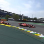 Ferrari's rijden elkaar uit de race in Brazilië