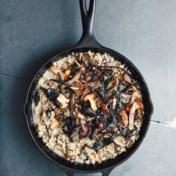 Gerstegrod ('risotto' met paddenstoelen)