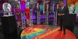 Conservatieven woest op tv-station dat Boris Johnson tijdens klimaatdebat verving door ijssculptuur