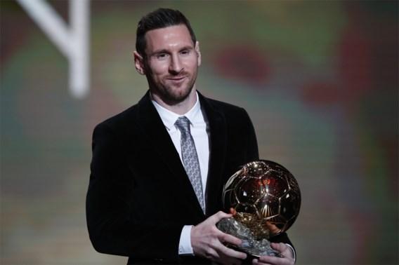 Messi ontvangt zijn zesde Gouden Bal