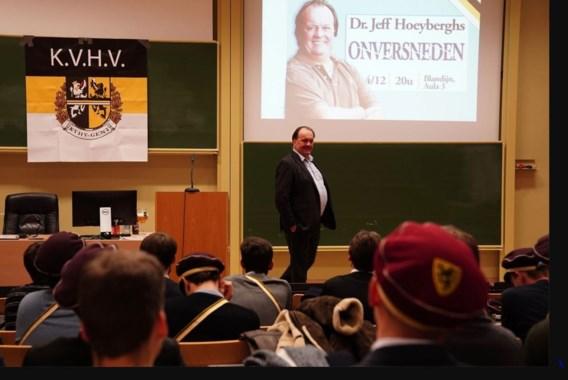 Ophef over lezing Jeff Hoeyberghs aan UGent
