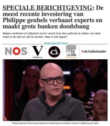 Oplichters maakten met valse reclame met BV's op Facebook al minstens 400.000 euro buit