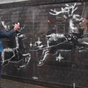 Nieuwe Banksy opnieuw beklad voor ogen van security