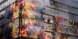 Greenpeace steekt gebouwen Europese Raad 'in brand'