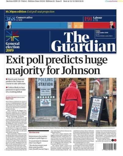 Van 'grote overwinning' tot 'nachtmerrie': zo vatten de Britse kranten de overwinning van Johnson samen