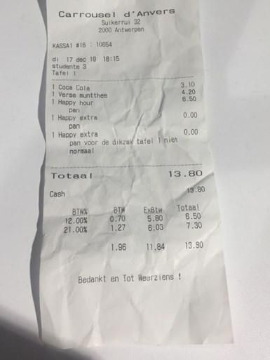 Antwerpse brasserie verontschuldigt zich na beledigen klant: 'Dikzak aan tafel 1'