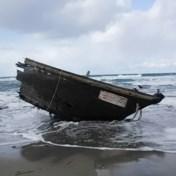 Spookschip met lijken en twee hoofden gestrand op Japanse kust