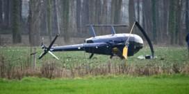 Helikopter crasht in Torhout, inzittenden zijn ongedeerd