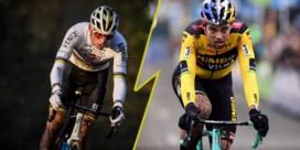 Zaterdag duel tussen Mathieu van der Poel en Wout van Aert (die terug over de balken springt)