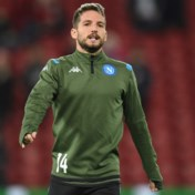 Dries Mertens traint nog steeds apart