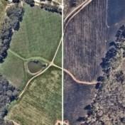 Luchtbeelden tonen Australië voor en na de bosbranden