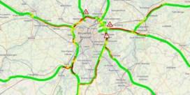 Wegverzakking op Brusselse binnenring: veel file