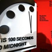 Einde der tijden nooit zo nabij: symbolische 'Doomsday Clock' voor het eerst onder 2 voor 12