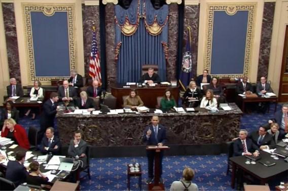 Amerikaanse senatoren vechten tijdens impeachmentproces Trump tegen verveling