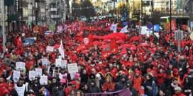 Politie telt tienduizend deelnemers op 'nationale manifestatie' ABVV in Brussel