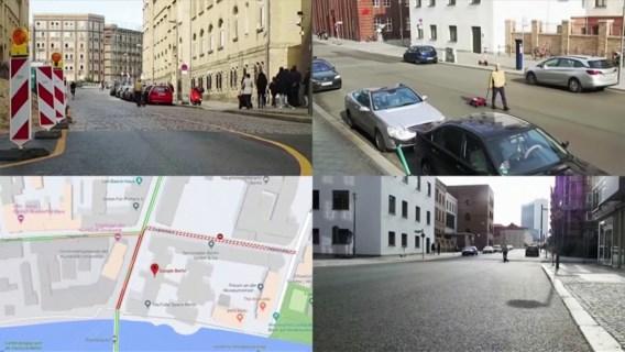 Artiest leidt Google Maps om de tuin met karretje vol smartphones