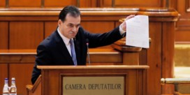 Wankele coalitie laat Roemeense premier al na drie maanden in de steek