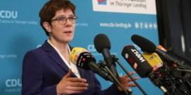 Kramp-Karrenbauer kondigt vertrek als CDU-leider aan
